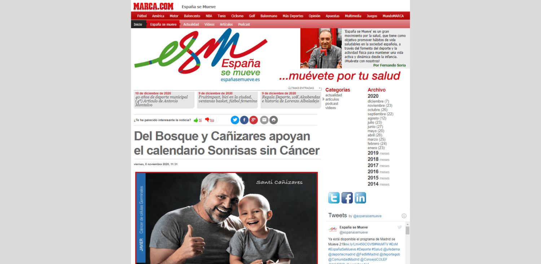 Del Bosque y Cañizares apoyan el calendario Sonrisas sin Cáncer - marca