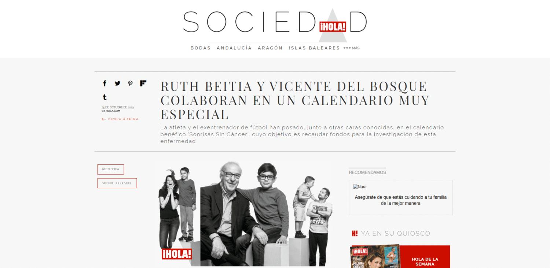 Ruth Beitia y Vicente del Bosque colaboran - www.hola